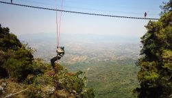 Adventure Travel Presenter Extreme abseiling activity in Africa