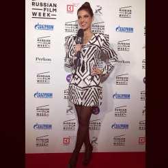 Kristina Guberman hosting red carpet event