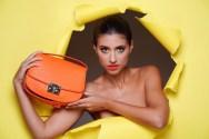 Kristina Guberman bright handbag shoot