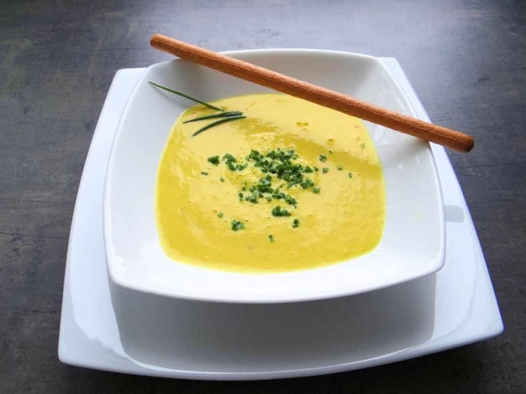 Kohlrabi-Mais-Suppe