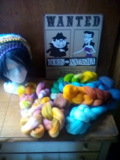 Hand dyed wool by Kristina Laurito