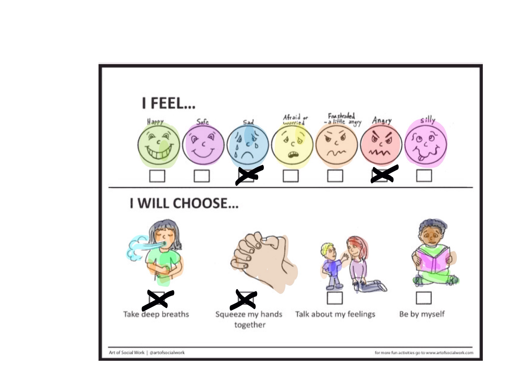 Feelings Check In Art Of Social Work