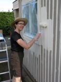 7 juli 14 trädgårdsbod kulörval ommålning 4