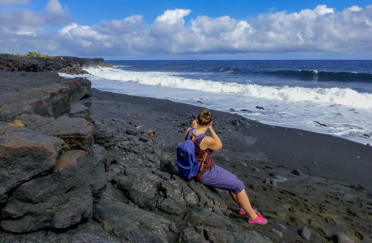 3 week Hawaii itinerary. Kaimu Beach on The Big Island