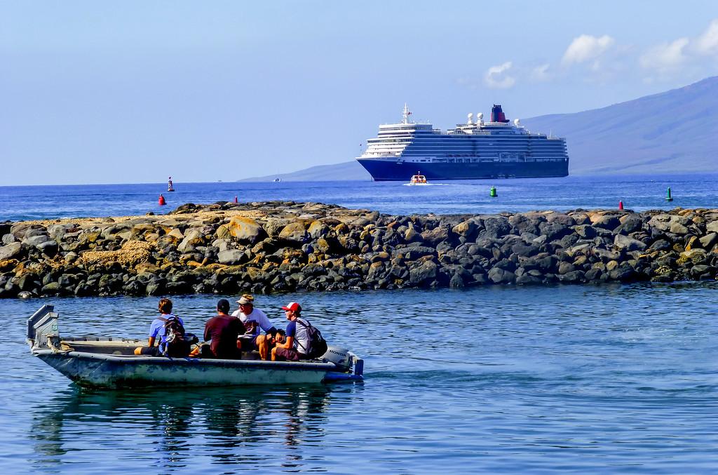 Maui to Lanai. Lahaina to Maui Ferry