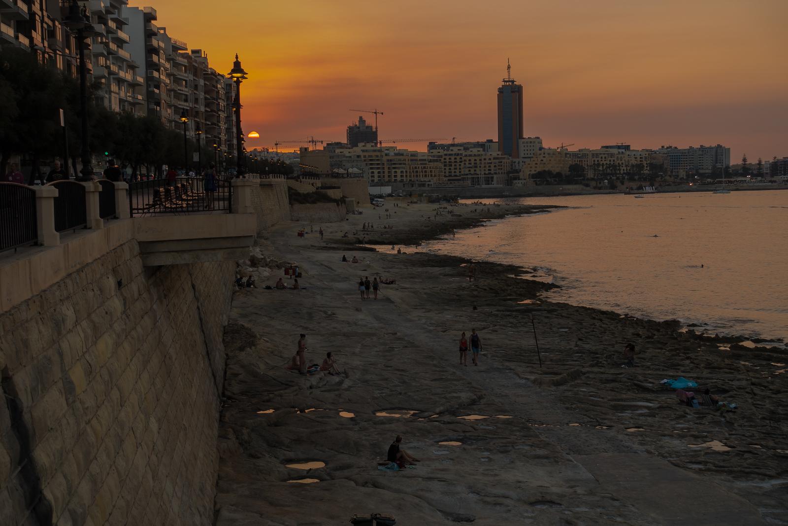 Malta Pictures - Sunset in Sliema