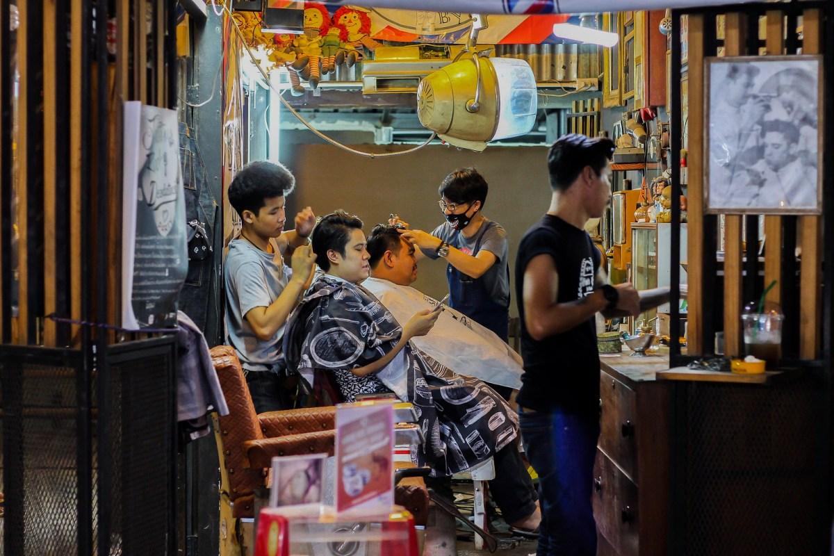 Siam Junction Night Market, Trendy Barbers in Bangkok