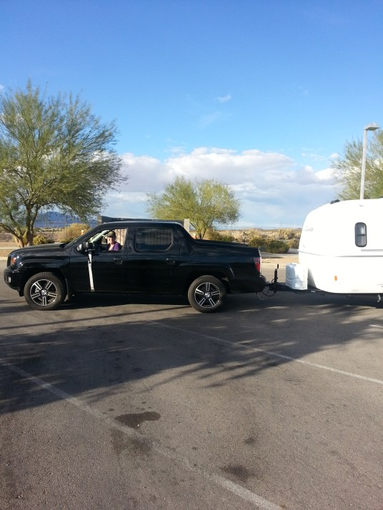 Kristin gives towing a try.