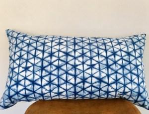 shibori indigo + linen pillow
