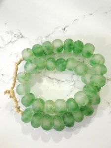 pale green glass african styling beads