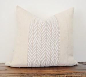 linen +vintage white mudcloth