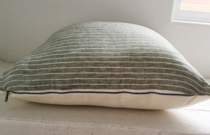 green stripes linen