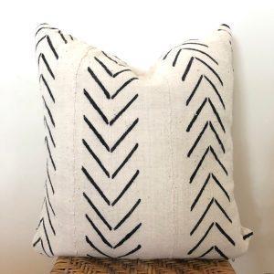 vintage arrow mudcloth pillow