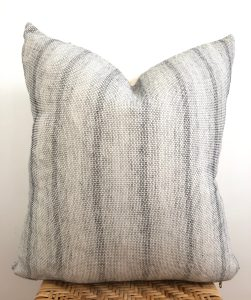 vintage subtle gray stripe pillow
