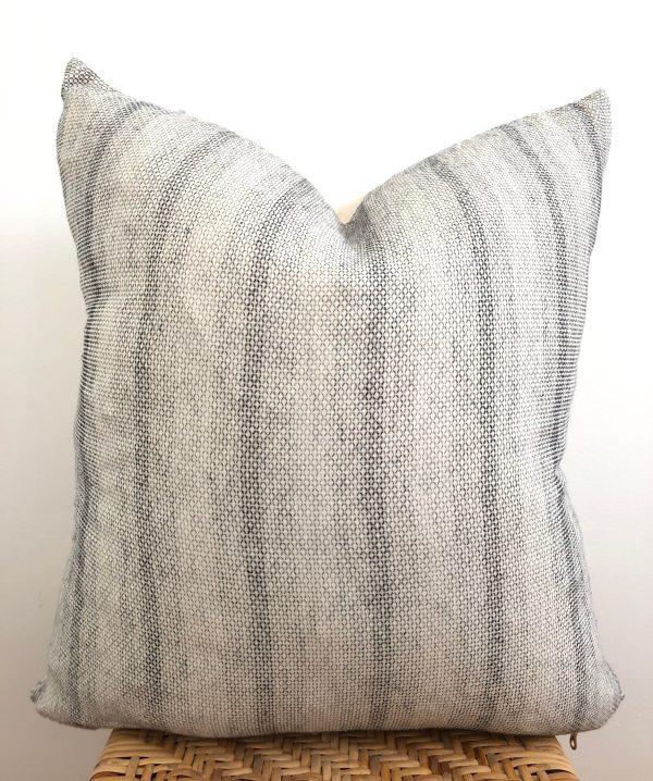 vintage subtle gray stripe pillow