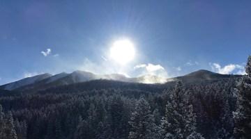 Sun on the Absarokas