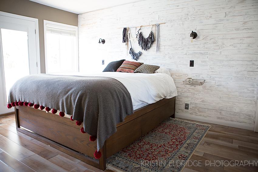 distressed white wood wall DIY  Kristin Eldridge