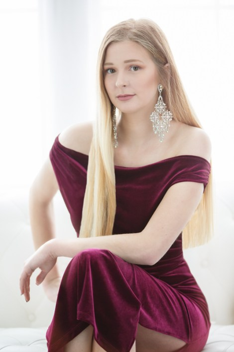 Teen girl in formal dress