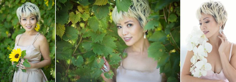 Luxury glamour photograph of Rosy Doan