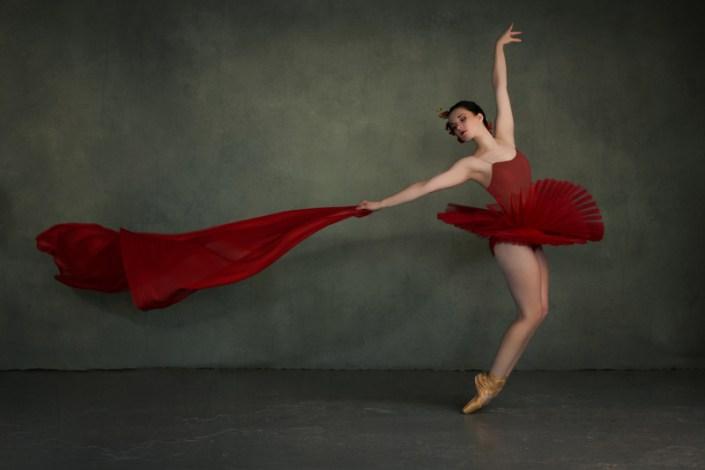 Ballet dancer in a red tutu