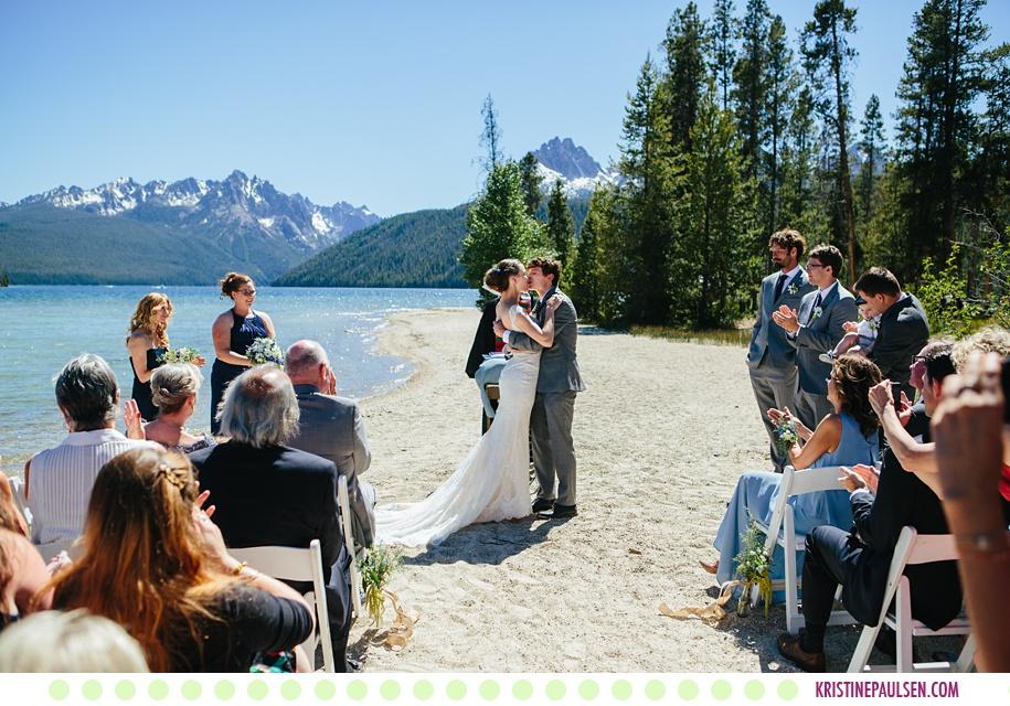 Hannah  Kevin  Redfish Lake Lodge Wedding in Stanley