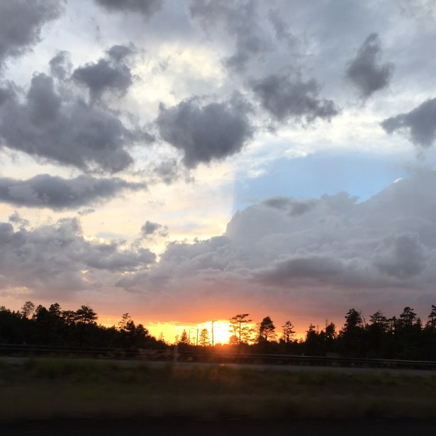 Sunset outside Flagstaff