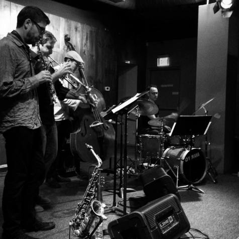 Empty Cage Quartet at the Angel City Jazz Festival (photo by Kio Griffith)