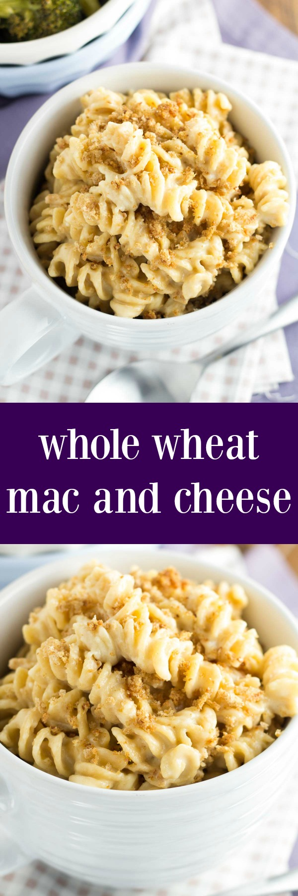A creamy cheese sauce coats every bite of this healthier Whole Wheat Macaroni and Cheese! An easy weeknight meal that the whole family will love!