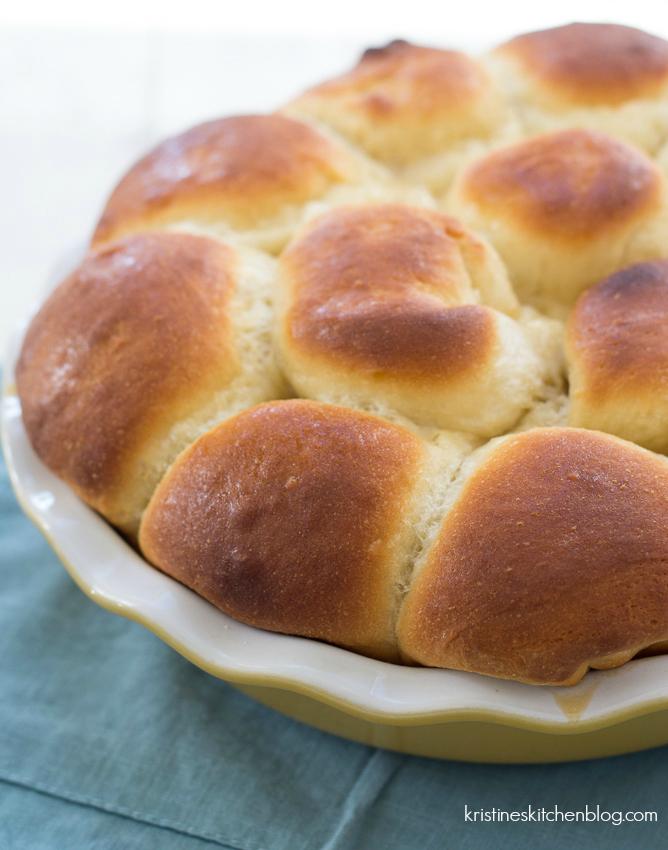 Honey Yeast Rolls - pillowy soft rolls, sweetened with honey - Kristine's Kitchen-5309wm2