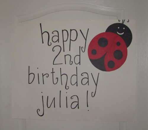Lisa Made Julia A Ladybug Birthday Sign As You Can Tell I Have Wonderful Family Who Helped Out So Much In The Planning And Preparations For Party