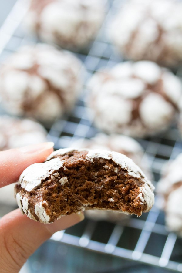 Fudgy Chocolate Crinkle Cookies are a Christmas cookie favorite! With a powdered sugar coating, these cookies are perfect for holiday gift baskets!