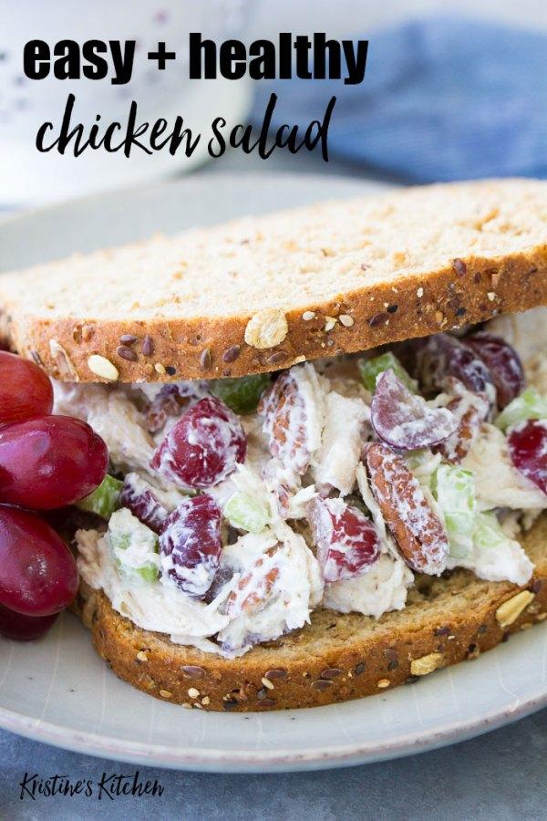 Chicken salad sandwich recipe on bread