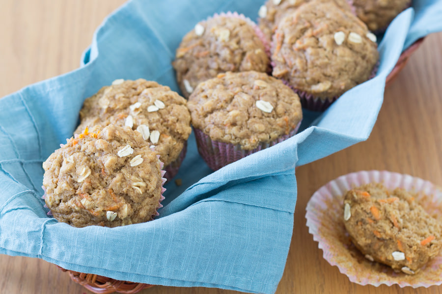 Healthy Carrot Cake Oat Muffins | Kristine's Kitchen