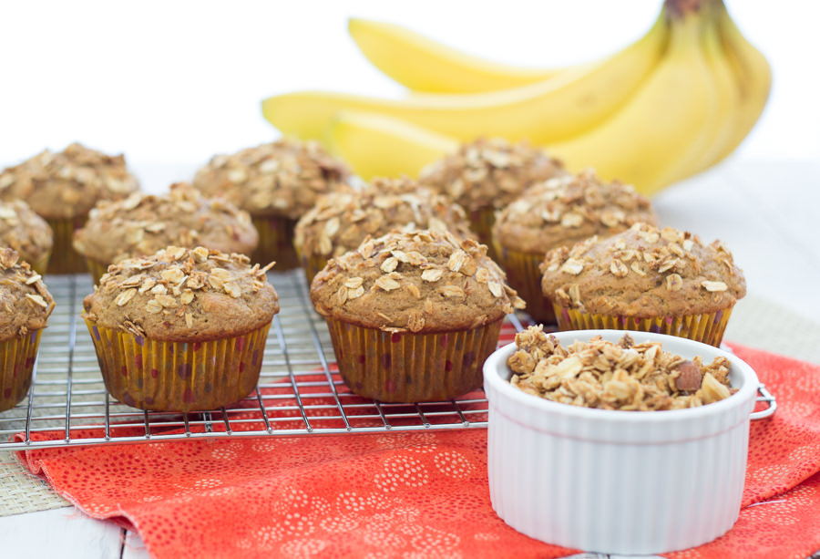 Granola Crunch Banana Muffins | Kristine's Kitchen