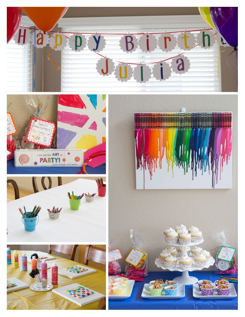 Colorful Art Birthday Party | Kristine's Kitchen