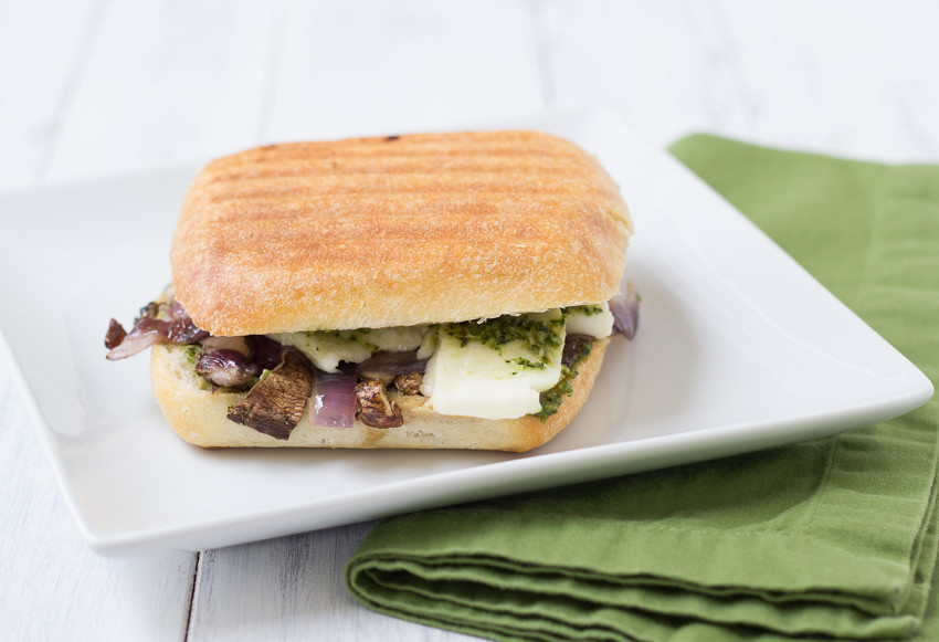 Portabella Pesto Panini - you will love this veggie sandwich! | Kristine's Kitchen