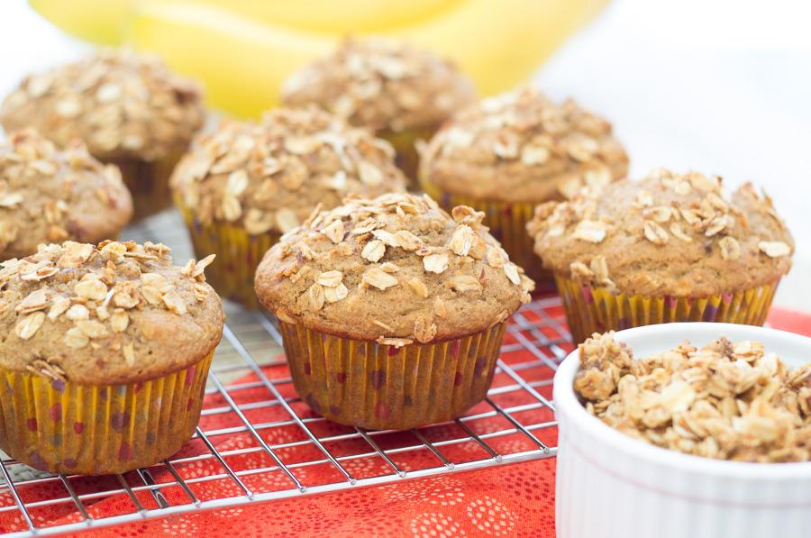 Granola Crunch Banana Muffins