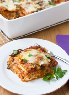 Kale and Baby Bella Lasagna- who knew a vegetable lasagna could be this good? ~ Kristine's Kitchen