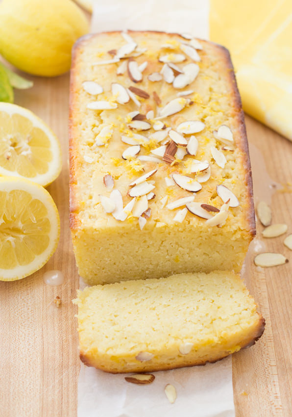 Lemon-Ricotta Cake with Almond Glaze. Bursting with bright lemon flavor! | Kristine's Kitchen