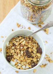 quinoa granola in small bowl