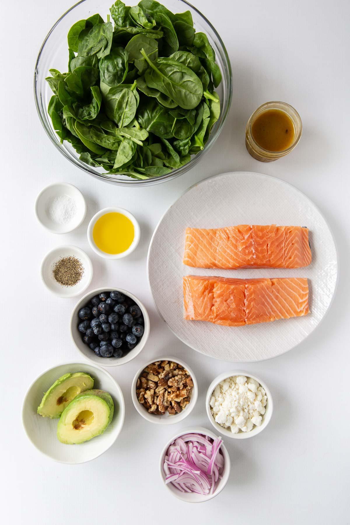 ingredients for salmon salad recipe