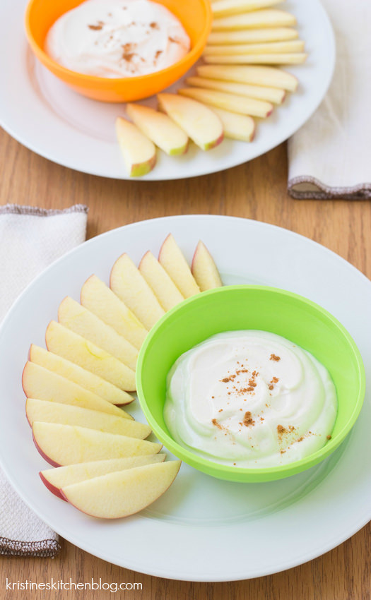 Apple Dippers with Honey-Cinnamon Yogurt {plus a new series: Healthy Bites for Kids} | Kristine's Kitchen