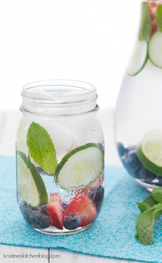 This refreshing fruit water makes it easy to drink your 8 glasses! | Kristine's Kitchen