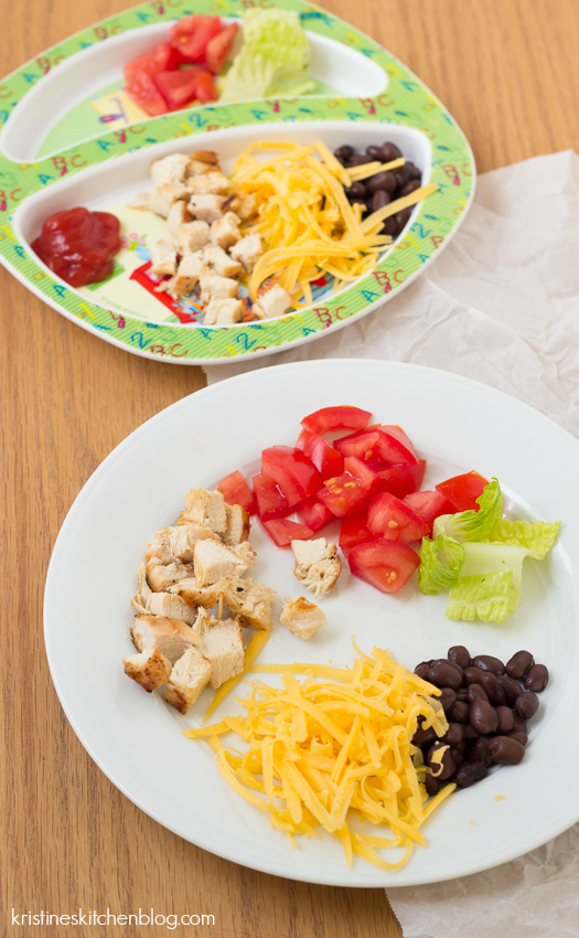 deconstructed bbq chicken salad ingredients