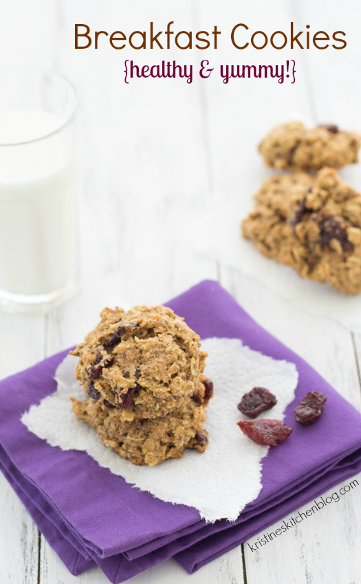 Breakfast Cookies - full of nutrition, you will CRAVE these! | Kristine's Kitchen