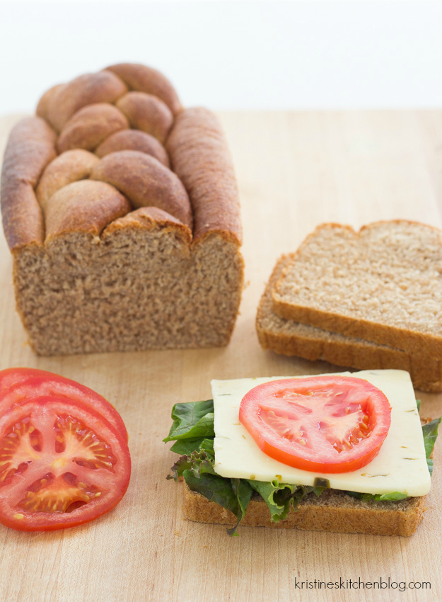 Easy 100% Whole-Wheat Sandwich Bread | Kristine's Kitchen