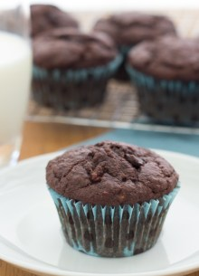 Triple Chocolate Banana Muffins - so yummy for breakfast or snack!
