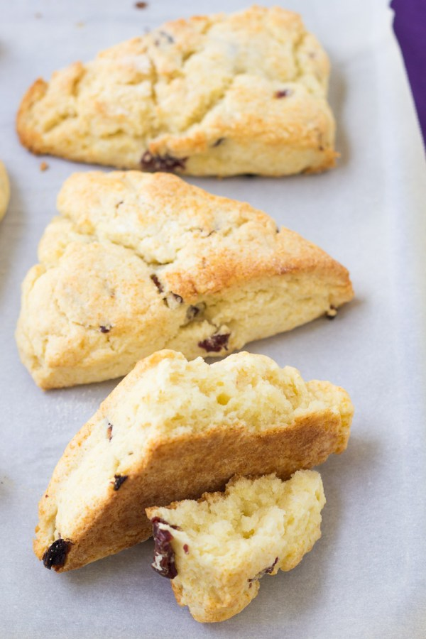 Flaky layers of a classic cream scone.