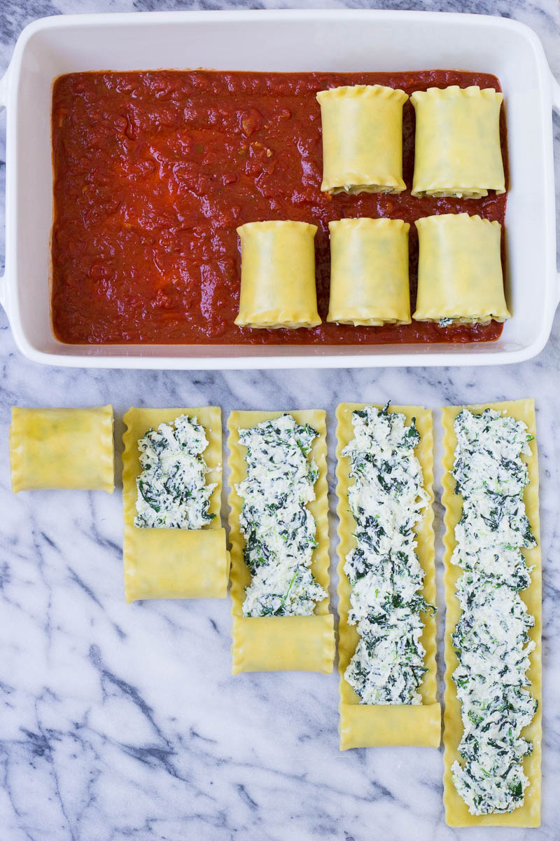 how to roll up lasagna rolls