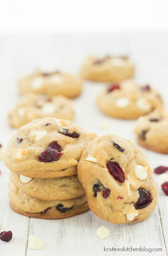 Soft, chewy brown butter cookies loaded with white chocolate and cranberries. | Kristine's Kitchen